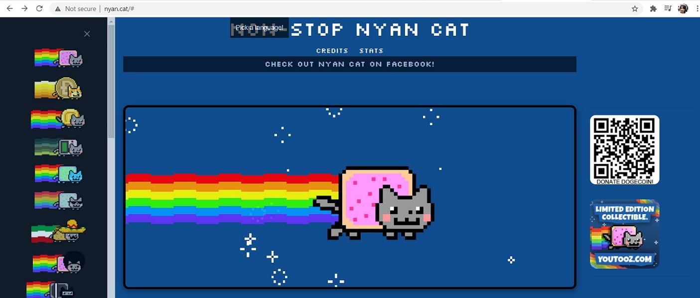 Hình ảnh website Nyan cat meme