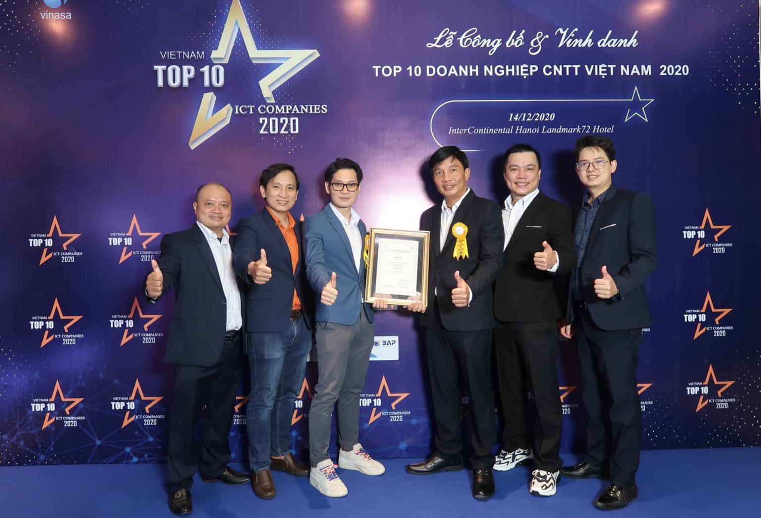 Thiên Tú tại giải thưởng top 10 doanh nghiệp BPO tại Việt Nam