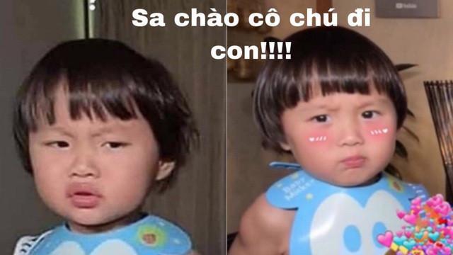 Hình meme bé Sa hài hước