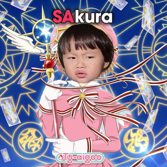 Hình meme bé Sa hóa sakura