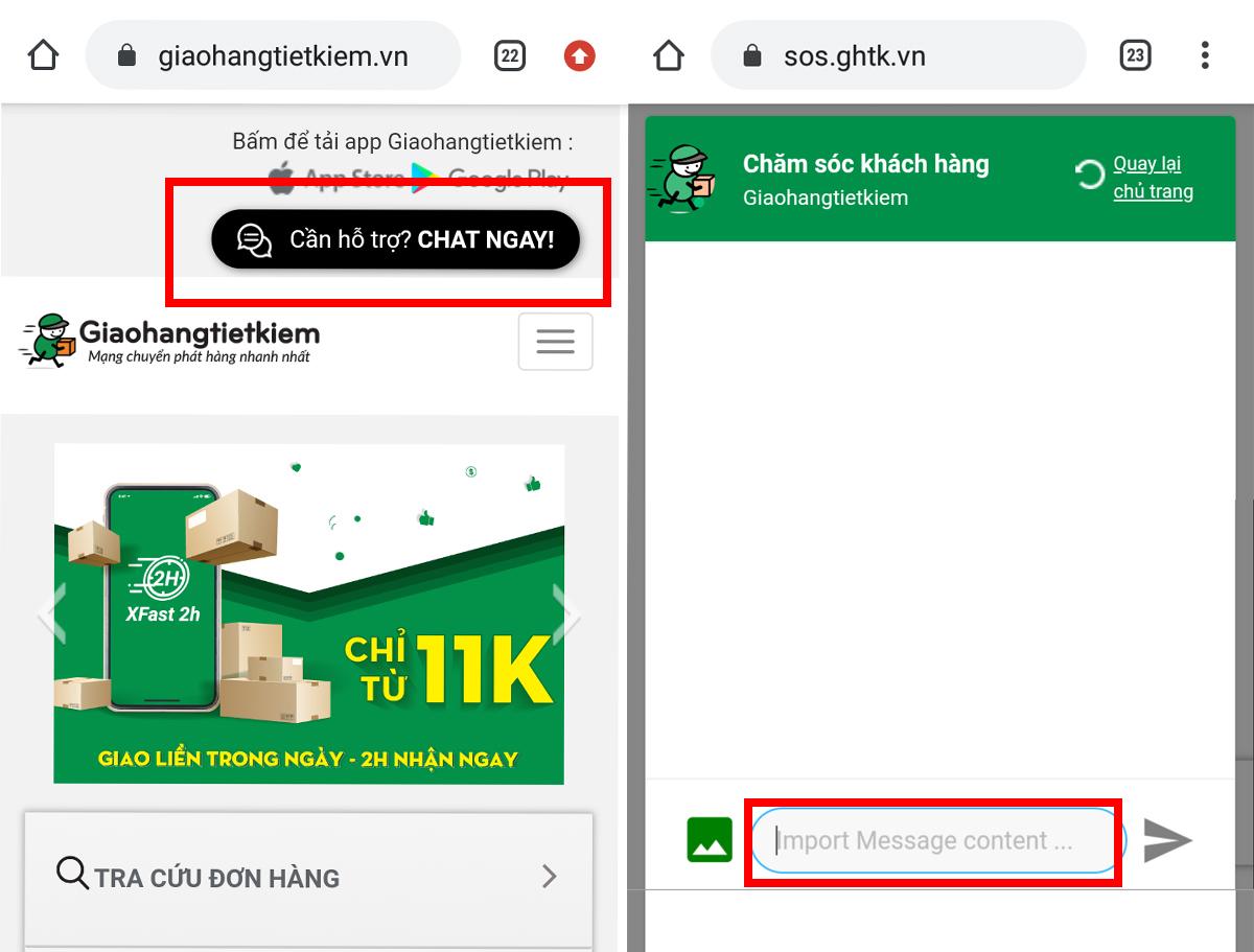 Hướng dẫn tra cứu vận đơn giao hàng tiết kiệm qua live chat support