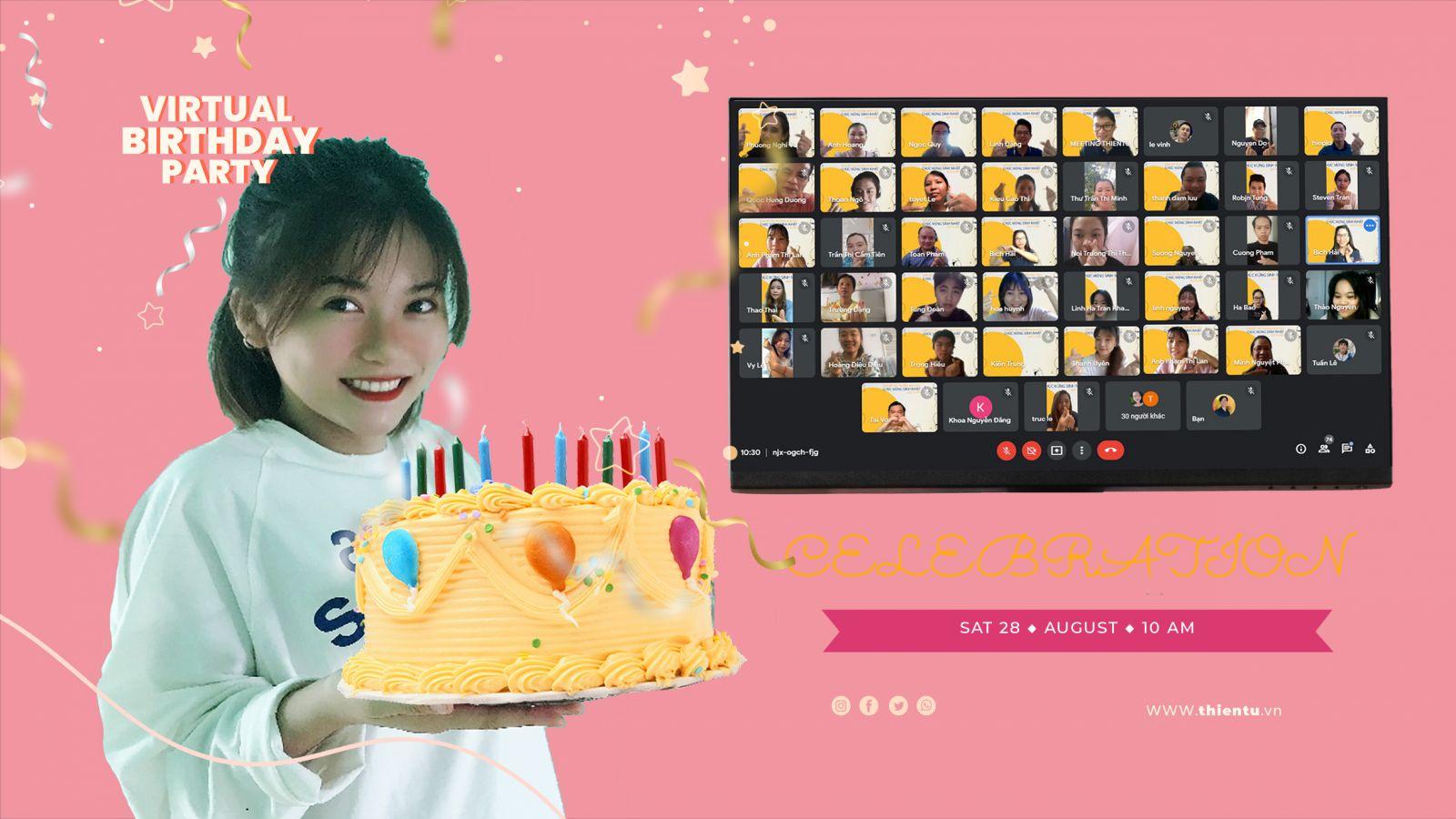 làm thế nào tổ chức sinh nhật online ý nghĩa
