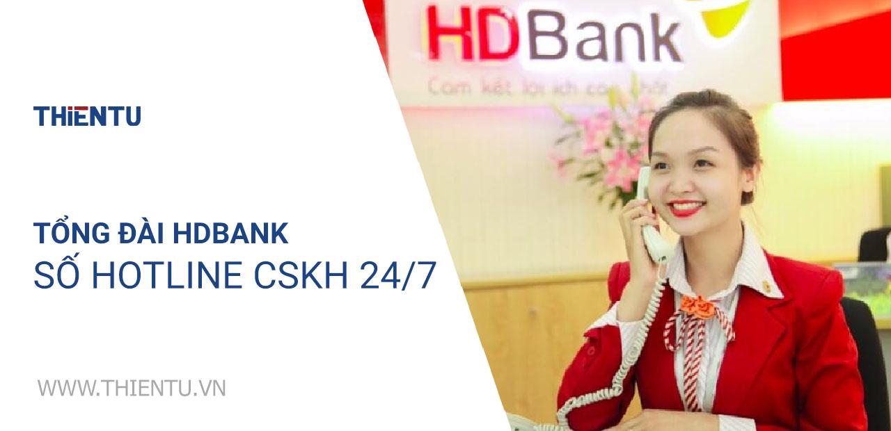 Tổng đài HDbank số hotline CSKH