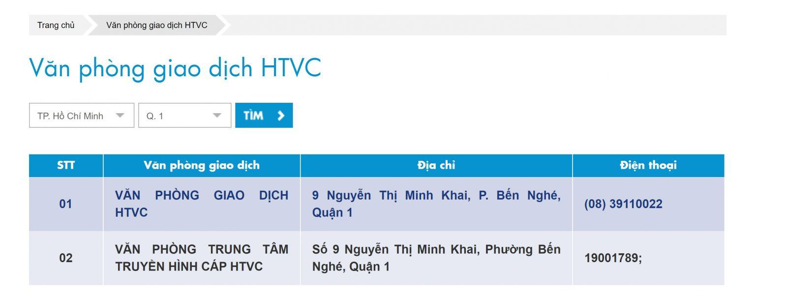 hướng dẫn tra cứu văn phòng HTVC cáp