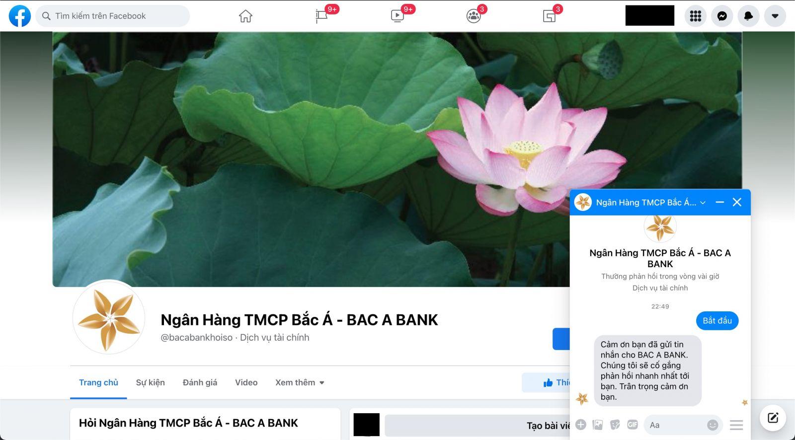 Facebook Bắc Á Bank