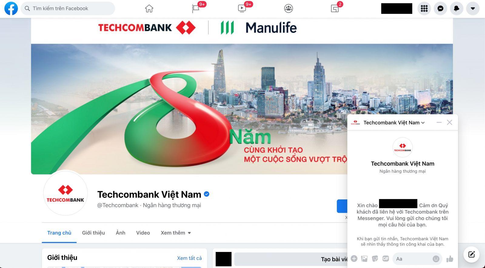 Facebook Techcombank