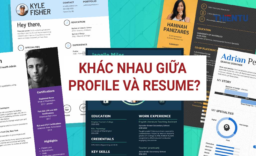 Khác nhau giữa profile và resume