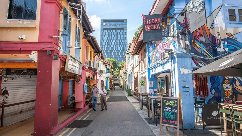 Khu phố du lịch Haji-Lane ở Singapore