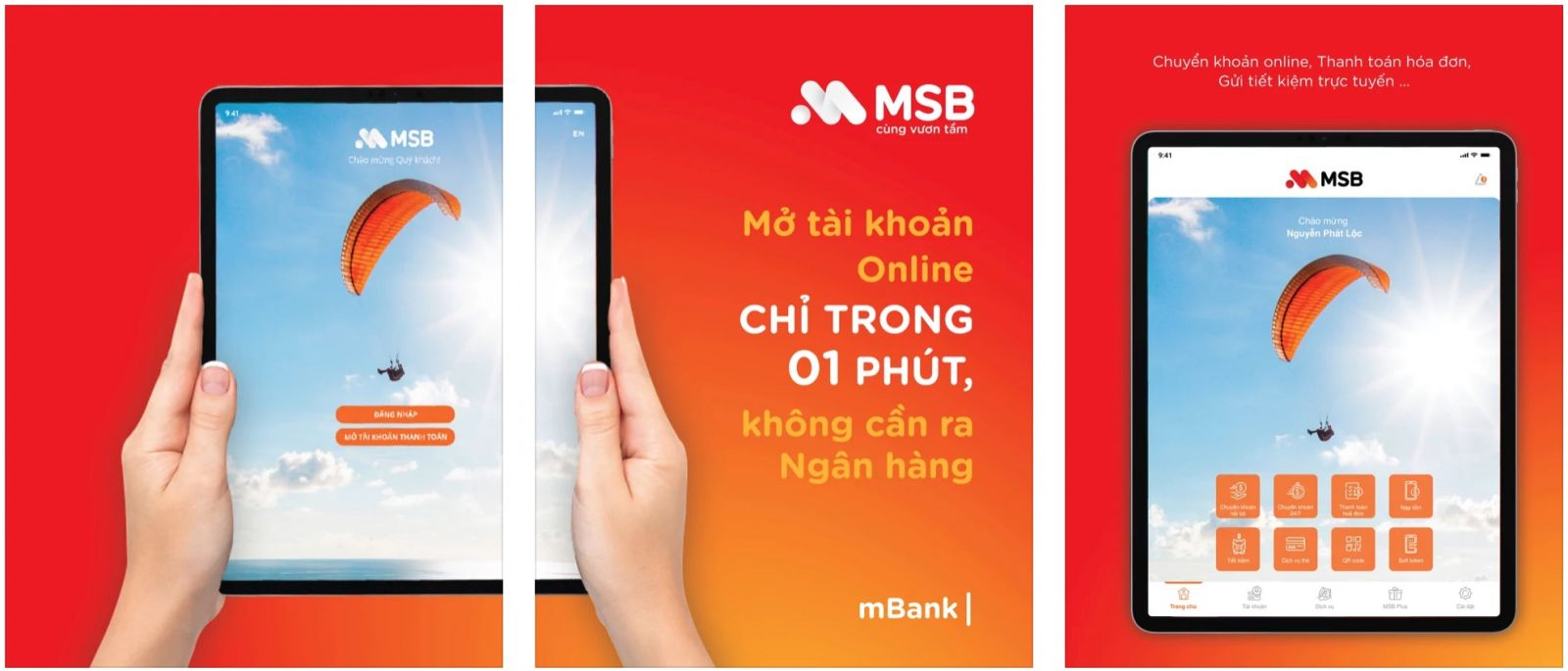 Ứng dụng MSB mBank