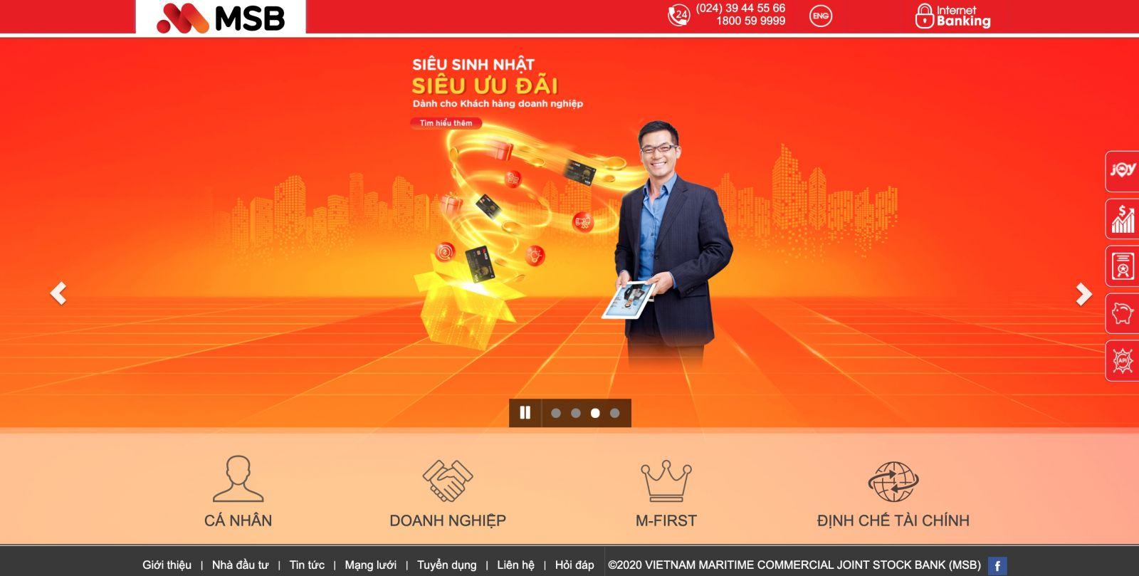 Website Maritime Bank (MSB)