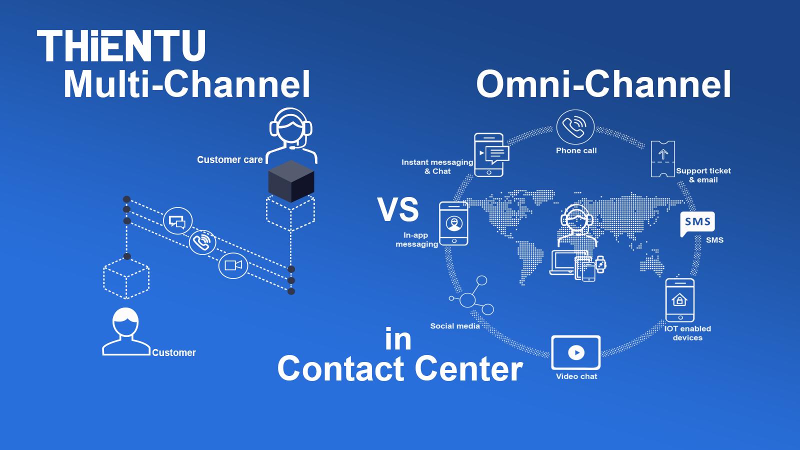 Điểm khác biệt của Multi channel với Omni channel