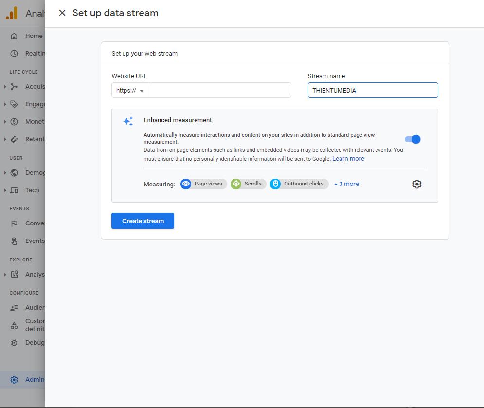 Cách lấy mã code google analytics