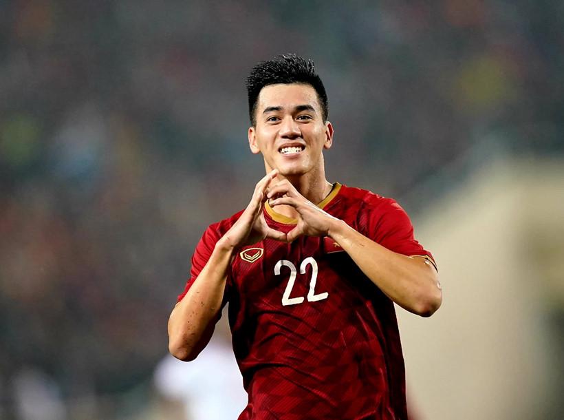 Cầu thủ Tiến Linh ghi bàn thắng đầu tiên