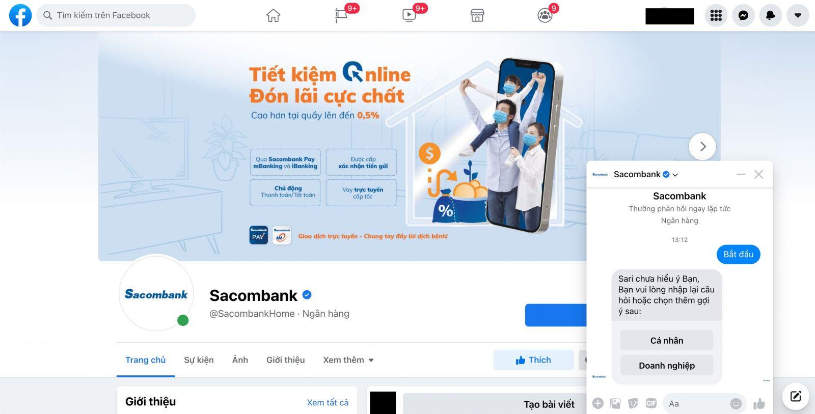 Facebook Sacombank