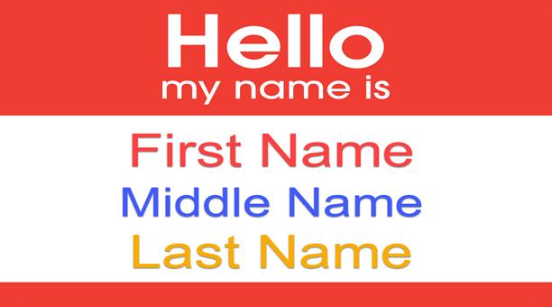 first name, last name là gì