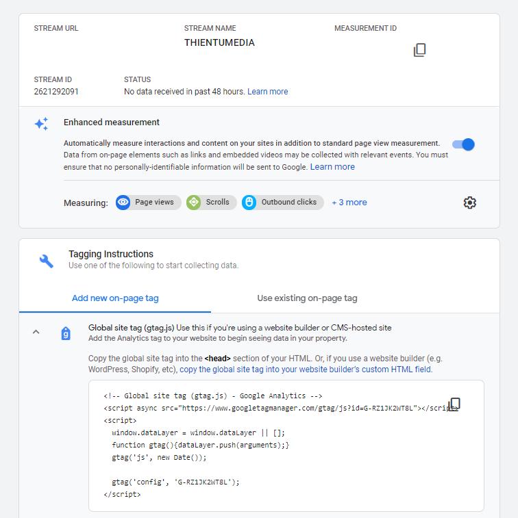 cách lấy mã tag google gtag.js