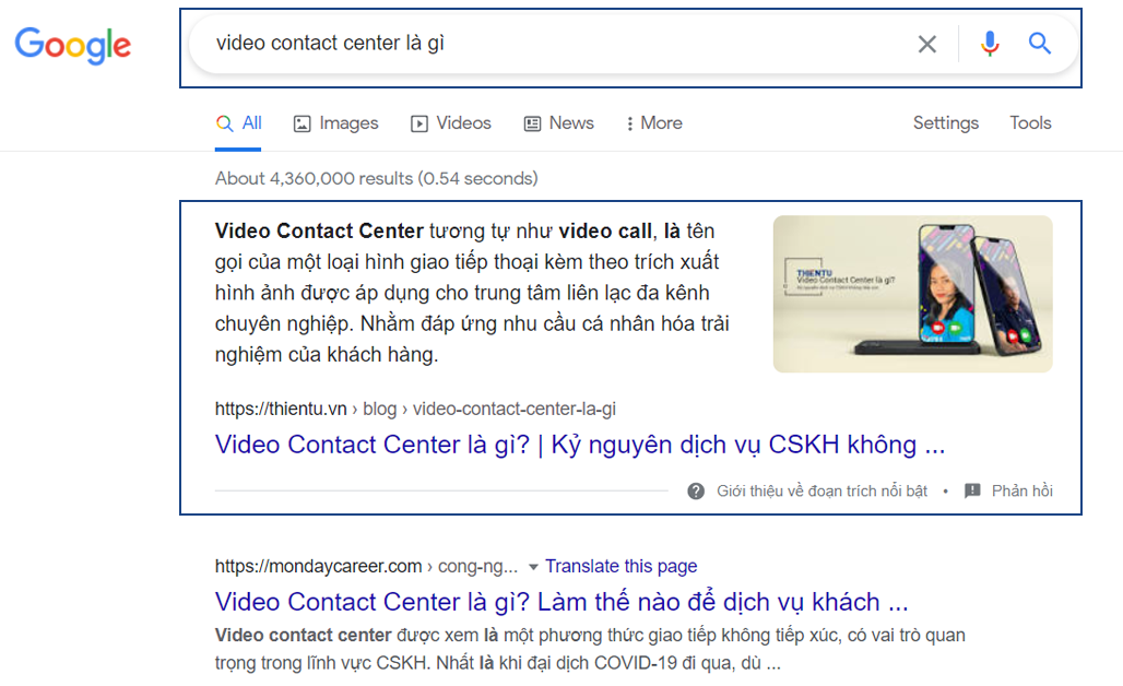 Hình ảnh nổi bật trên google video contact center là gì