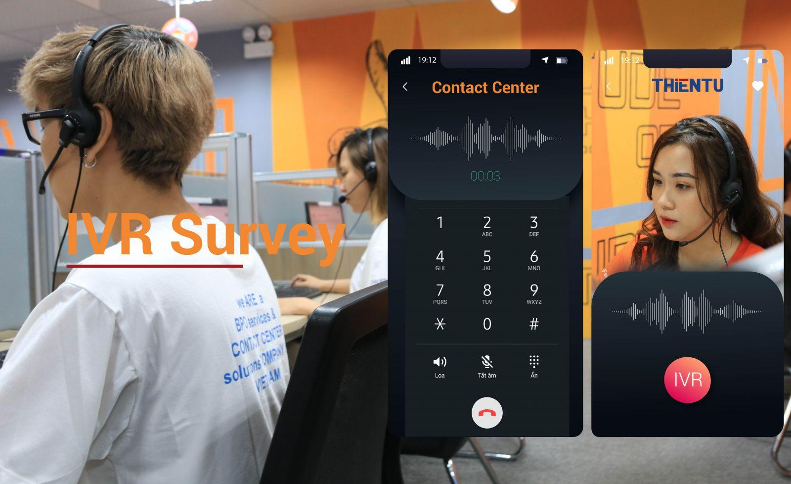 Công nghệ nhận diện giọng nói IVR survey
