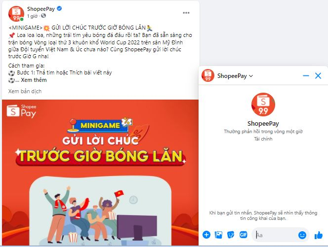 Live chat support ShopeePay