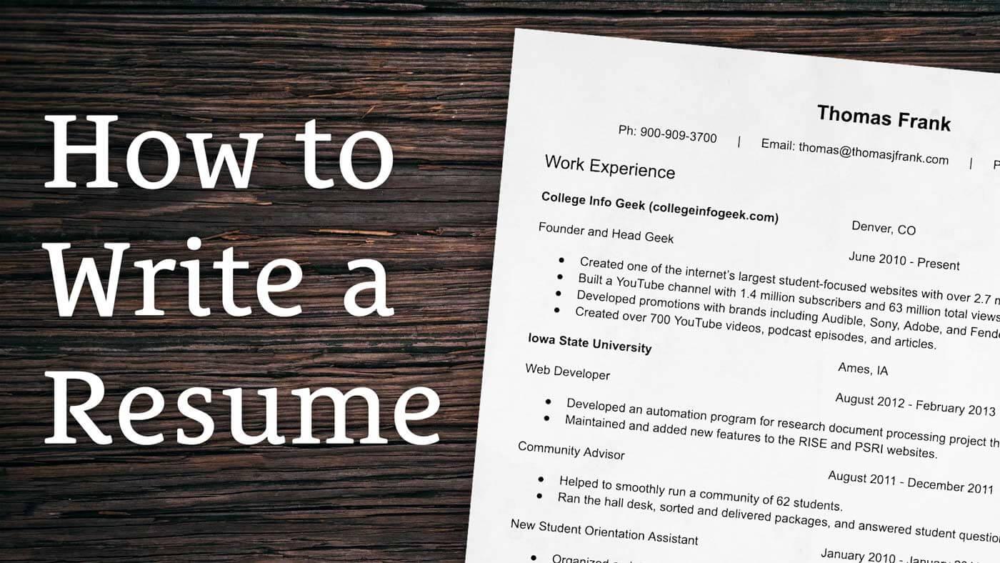 Phương pháp viết resume