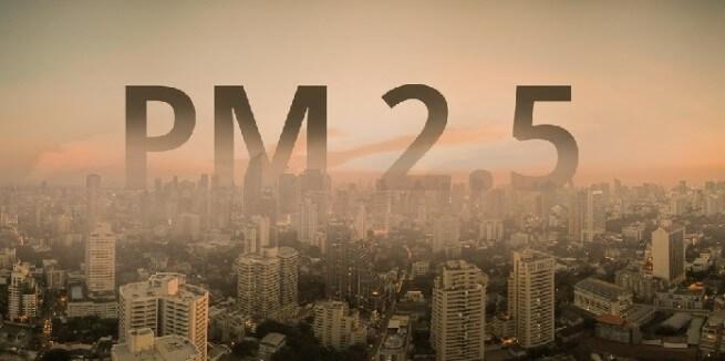 Sương mù gây tích tụ bụi mịn PM2.5