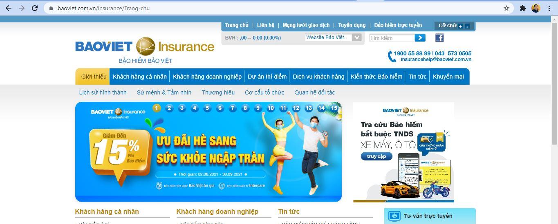 trang chủ bảo hiểm bảo việt