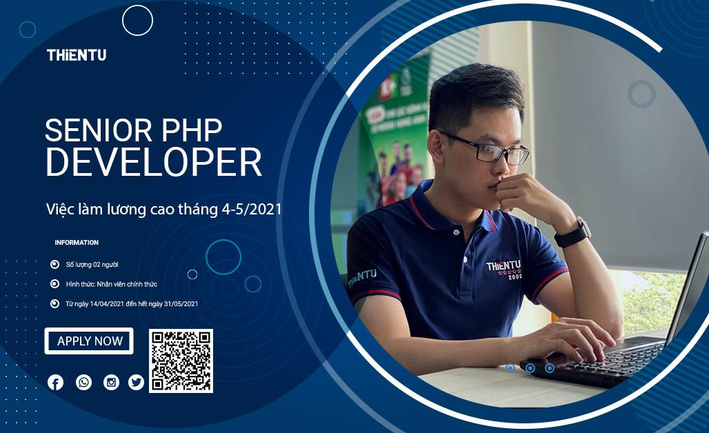 Tuyển dụng vị trí nhân viên lập trình PHP tháng 4, 5-2021
