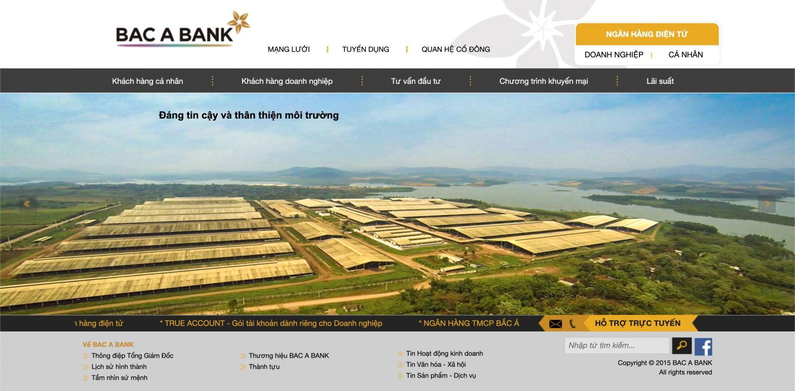 Website Bắc Á Bank