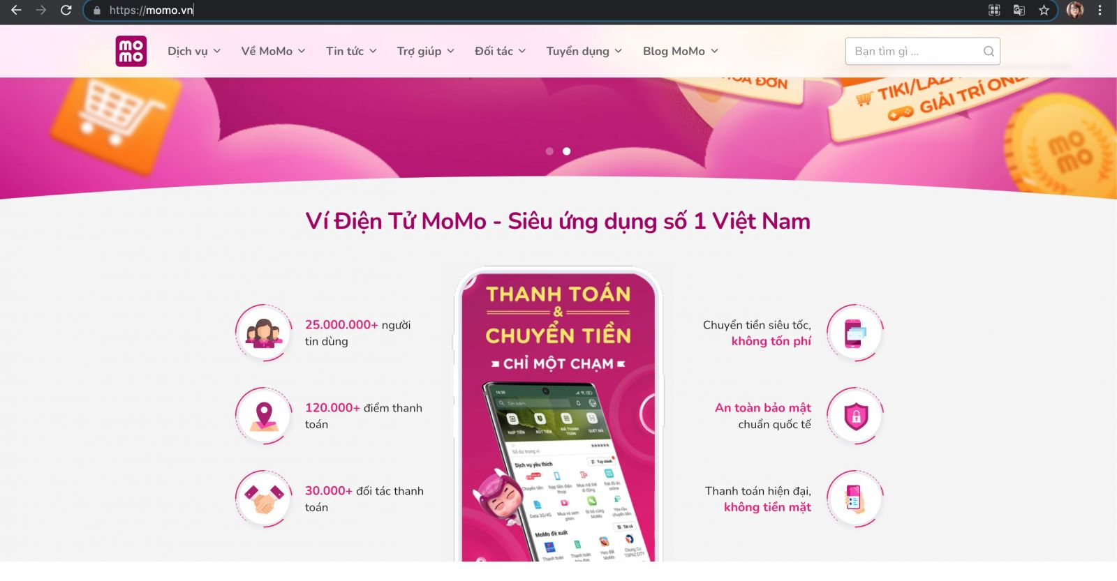 website MoMo