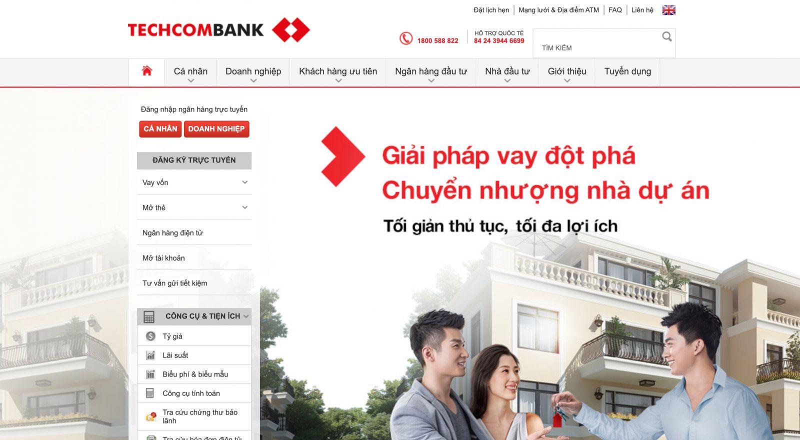 Website Techcombank